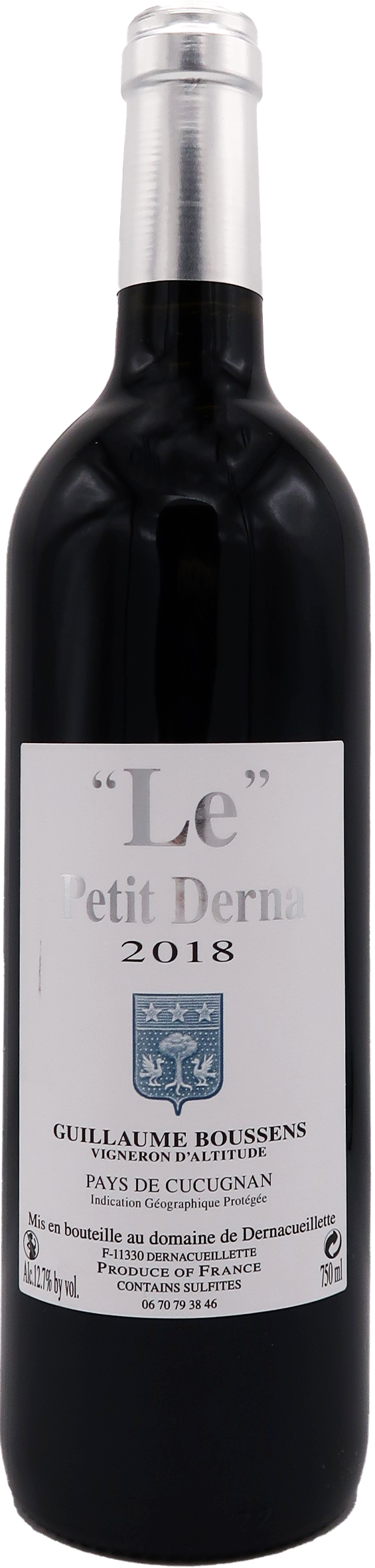 Le Petit Derna 2018 - Domaine de Dernacueillette - IGP Pays de Cucugnan 0.75